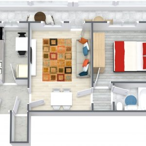 2 Camere etaj 1 - Soseaua Oltenitei - Metrou Piata Sudului - comision 0%