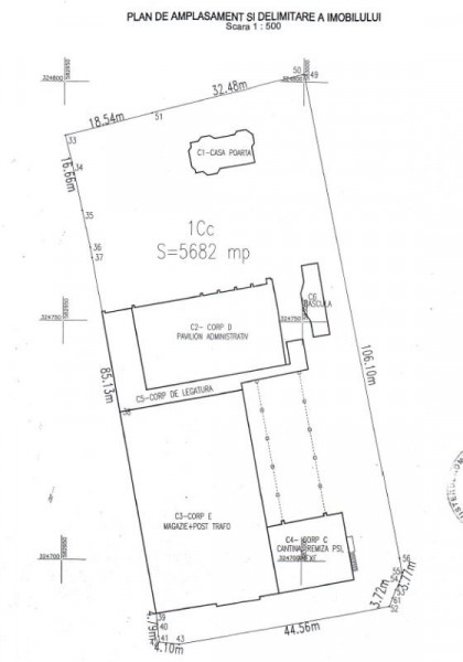Teren + Cladire de birouri inchiriata! Deschidere Blvd. 1 Mai- 51 m